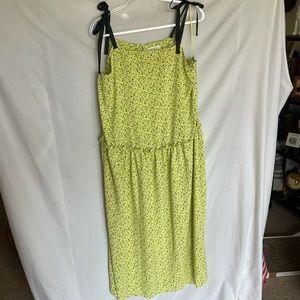 NWOT Topshop drop waist midi dress